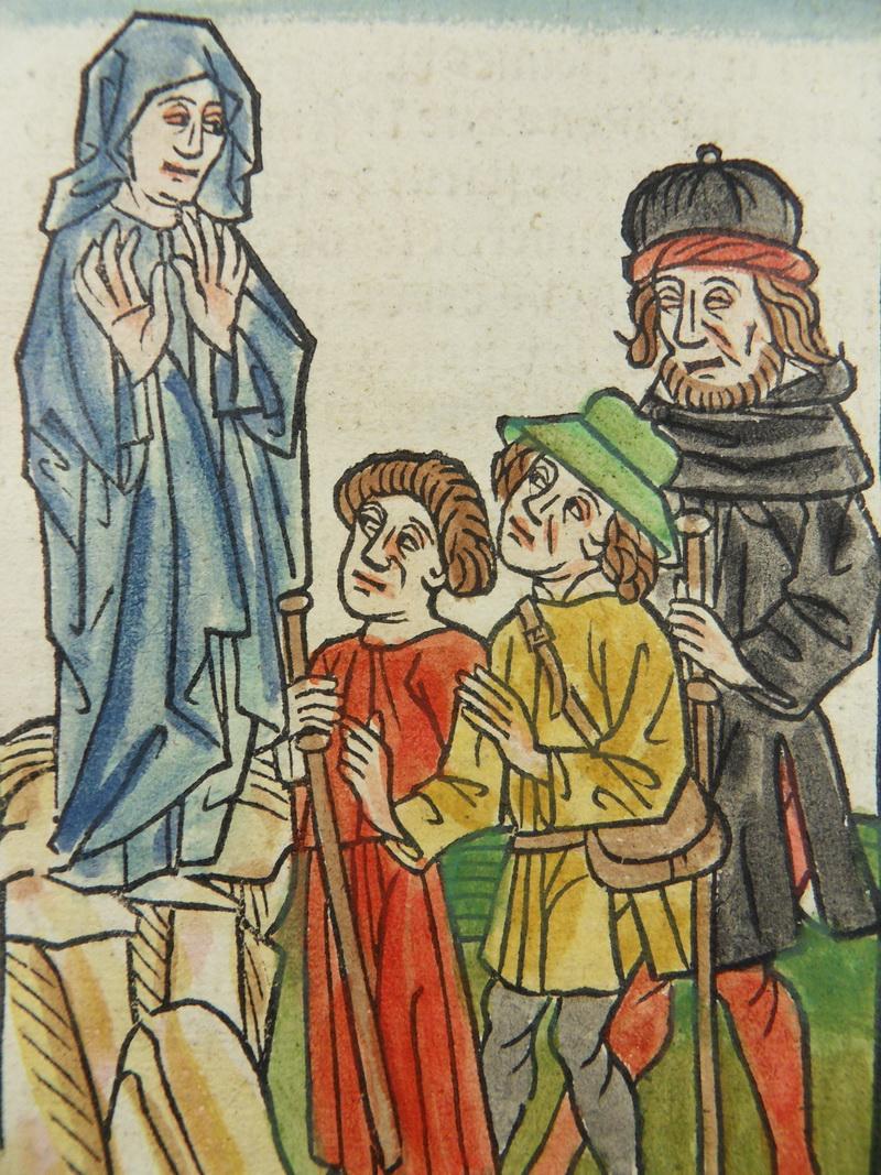 Miroir redemption kol inkunabel gravure sur bois vierge for Gravure sur miroir